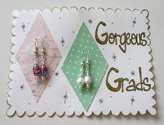 """Gorgeous Grads"" Graduation Earring Gift Set by CharmingShop."