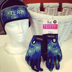 These just in... Women's cold weather cycling gloves and matching beanie from Terry. Sizes XS to Large. With matching beanie to wear under a cycling helmet. Keeps head, and ears, toasty! #Padgram
