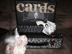 Bonnie and clyde theme vintage 20's wedding card box