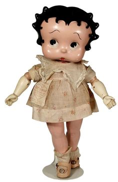 """~ Compositon & Wood """"Betty Boop"""" Doll ~ (1930's) Cameo Doll Company"""