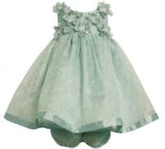 Green dress with bloomers