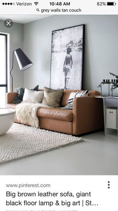 Modern Brown Couches modern setting for brown leather couch | diy home {group board