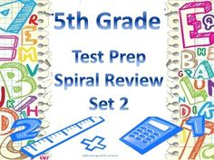 Excellent Test Prep - 5 days of review questions in a bellwork format with an assortment of test question types