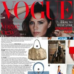 The Python Talega in the October edition of @britishvogue @voguemagazine. So excited! 😊 #pythonbag #luxurybag #stylish #style #londonfashion #londonlife #vogue #voguemagazine #vogueuk