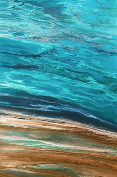 "Where ART Lives Gallery Artists Group Blog: Contemporary Abstract Seascape, Beach Painting, Fine Art, Coastal ""Beautiful Storm Speaks II"" by International Contemporary Artist Kimberly Conrad"