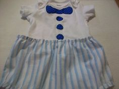 Embelished Onesie And Diaper Cover Set by PeaPodLilFrogs on Etsy.