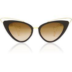 Whale Cat Eye Sunglasses | Moda Operandi (1.985 RON) ❤ liked on Polyvore featuring accessories, eyewear, sunglasses, acetate sunglasses, cateye sunglasses, pointy glasses, cat eye sunnies and cat eye sunglasses