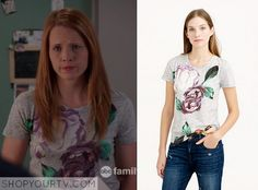Switched at Birth: Season 4 Episode 3 Daphne's Grey Floral Print Tee