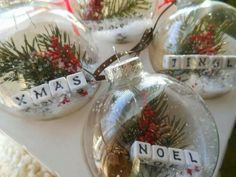 Clear Ball Ornaments