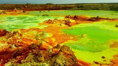 10 alien landscapes right here on Earth/Danakil Depression Afar Region, Ethiopia