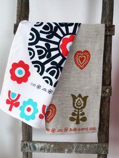 Cute printed tea towels