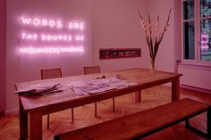 Silence - neon light installation by sygns. www.sygns.com
