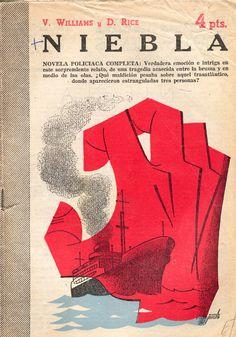 """Portada revista literaria """"Novelas y Cuentos"""" ilustrada por Manolo Prieto. Niebla"""