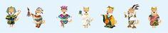 character design_綿羊犬皮皮犬角色設計_埃及法老、毛利人、阿美族、希臘、中國秦始皇、波斯國王