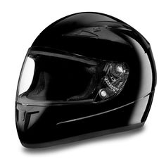 """D.O.T. DAYTONA SHADOW- HI-GLOSS BLACK Our D.O.T. Daytona Shadow Full Face Helmet In The Hi-Gloss Black Finish, Meets And Exceeds D.O.T. FMVSS 218 Standards.  This Full Face Helmet Features A Removable, Washable Interior (Moisture Wicking Fabric), Adjustable Chin And Forehead Ventilation With An Outer Anti-Scratch Clear Shield.  Nylon Strap Retention System With Quick Release Lock.  It Is Also Available In Soft Touch, Dull Black.  Sizes Range From XS-2XL. Price: $87.95"""