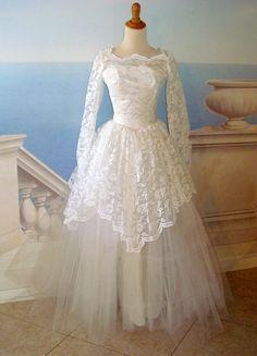 Vintage 1950s Custom Princess Lace Wedding by SofiasCobwebMuseum, $200.00