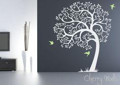 Nursery tree decal, removable wall sticker tree decal  SKU1506a. $84.00, via Etsy.