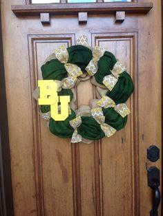 #Baylor Burlap Wreath