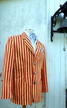 Gent's Red & Yellow Striped Boating Blazer by TroubleAndStrumpet, £110.00