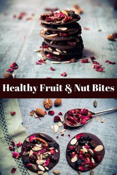 Healthy homemade dark chocolate fruit and nut thins. The perfect snack to satisfy a chocolate craving using detoxing and mineral rich dark chocolate, fruits, nuts and seeds chosen specifically for health benefits and encourage a healthy attitude towards s