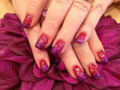 Red+and+purple+glitter+polish+fade