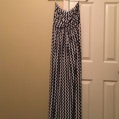 Black and white chevron dress Black and white strapless chevron maxi dress Fashionomics Dresses Maxi