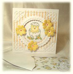Handmade Easter/New Baby Card   OOAK Chick Egg by KeepsakesCorner, £2.70