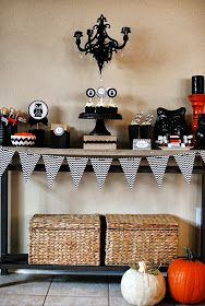 anna and blue paperie: Modern Black, White & Chevron Halloween Party