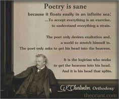 Poetry is Sane – G.K. Chesterton