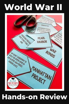 Looking for a quick formative assessment for WWII? These matching review cards will allow you to review WWII in an interactive way! #activehistoryteacher #ushistoryreview #eocreview #worldwar2review