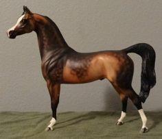 Peter Stone Arabian Horse BENNIFER Bay/Gray/Buckskin Original Mold LIKE BREYER