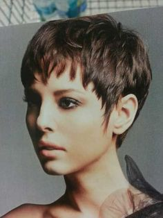 wanna give your hair a new look ? Short pixie hairstyles is a good choice for you. Here you will find some super sexy Short pixie hairstyles, Find the best one for you, # Hairstyles for men back view Security Check Required Short Pixie Haircuts, Cute Hairstyles For Short Hair, Pixie Hairstyles, Curly Hair Styles, Hairstyles 2016, Haircut Short, Pixie Styles, Haircut Styles, Trendy Hair