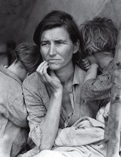 Migrant Mother by Dorothea Lange Hard Times: The Wrath of an Angry God