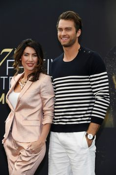 Jacqueline MacInnes Wood Photos Photos - Jacqueline MacInnes Wood and Pierson Fode from 'The bold and the beautiful' attend a photocall during the Monte Carlo TV Festival : Day 3 on June 2017 in Monte-Carlo, Monaco. Jacqueline Macinnes Wood, Movie Pic, Soap Stars, Canadian Actresses, Bold And The Beautiful, Photo On Wood, B & B, Celebs, Actors