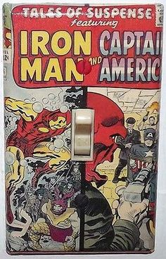 Tales of Suspense 66 Light Switch Cover Plate Iron Man Captain America Marvel