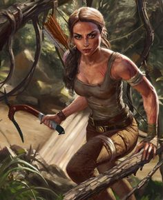 Lara croft african tribe porn-1189