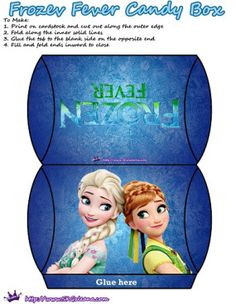 Frozen Fever Candy Box Anna and Elsa