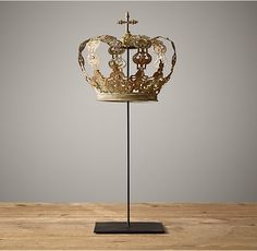 19Th C. Crowns On Stands Imperial Crown