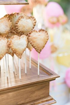 heart shaped pie pops // photo by Michele Beckwith // http://ruffledblog.com/the-notebook-inspired-wedding