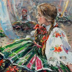 Solve Polish Girl jigsaw puzzle online with 400 pieces Jig Saw, Painting Of Girl, Painting & Drawing, Watercolor Paintings, Folklore, Polish Folk Art, Native American Fashion, Love Drawings, Watercolor Techniques