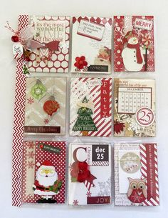 Bilderesultat for tarjetas navidad scrapbooking Christmas Albums, Christmas Scrapbook, Christmas Tag, Atc Cards, Journal Cards, Xmas Cards, Pocket Pal, Pocket Cards, Project Life Cards