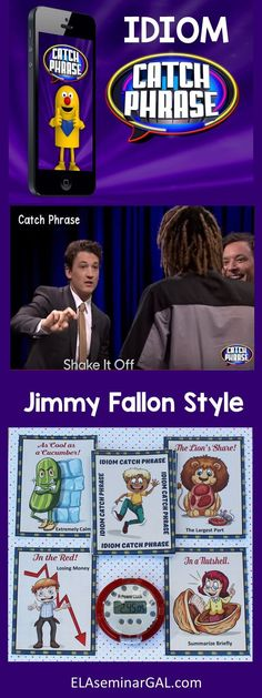 Play Idiom Catch Phrase...Jimmy Fallon Style. All you need is a timer and your favorite set of idioms. (Blog Post)