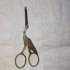 Vintage W. H. Morley & Sons Germany Stork Embroidery Scissors
