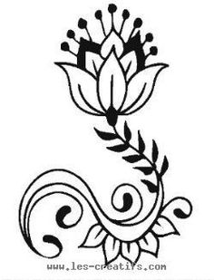 Indian flower motif ... the flower shape is similar, not the leaves