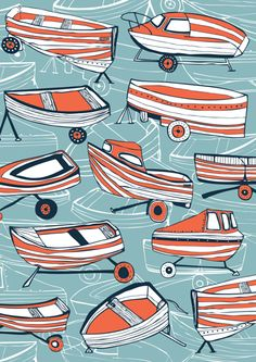 Boat Nostalgia by Jessica Hogarth Designs