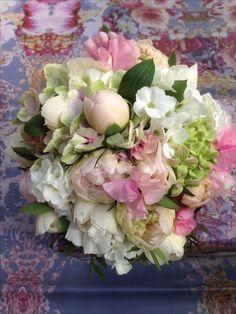 Brautstrauß rosé, Paeonien