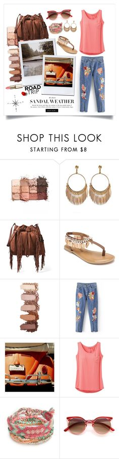 """""""Road Tripping"""" by devrene ❤ liked on Polyvore featuring tarte, Diane Von Furstenberg, Penny Loves Kenny, Pottery Barn, prAna and Red Camel"""