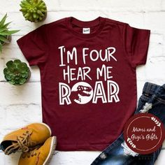 This is such a cute idea for a four-year-old's shirt!