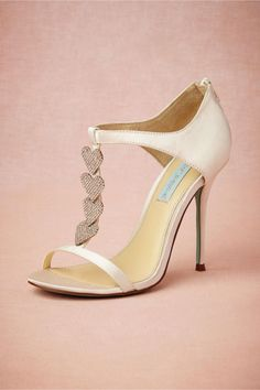 Dancing Heart T-Strap Wedding Shoes from BHLDN