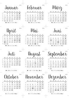calendario 2019 34ld papeler a pinterest calendar. Black Bedroom Furniture Sets. Home Design Ideas